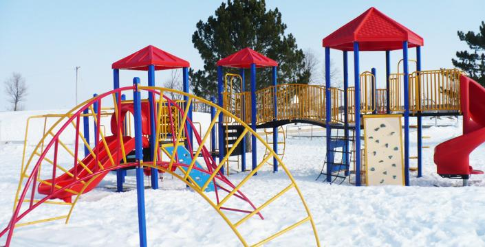 Playground in Winter