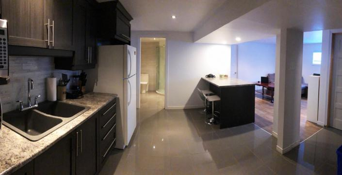 Basement apartment with kitchenette
