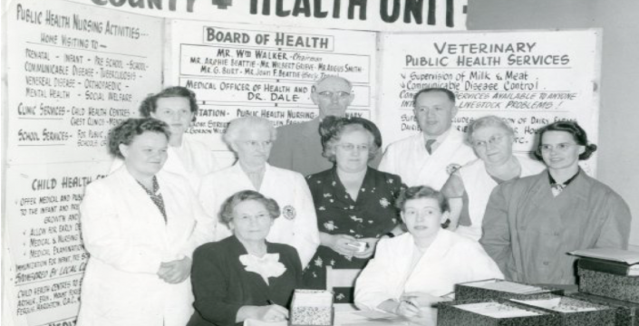 Wellington County Health Unit staff, old image