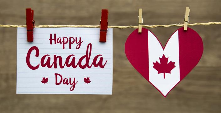 "Card: ""Happy Canada Day"""