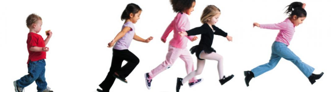 Multicultural group of children jumping