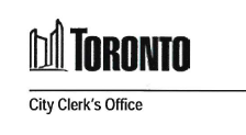 Toronto City Clerk's Office Logo